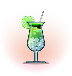 Cocktails drinks in glasses vector
