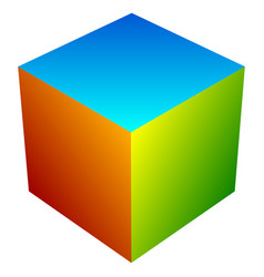 colorful cube icon modern bright generic icon vector image