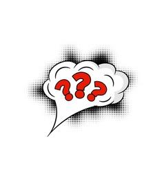 Comic question mark vector