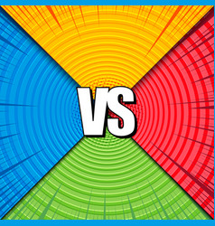 comic versus colorful composition vector image