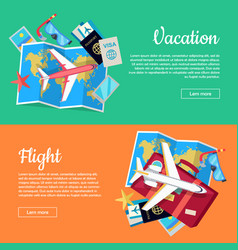 conceptual web banners for travel agency vector image