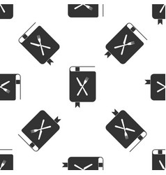 cookbook icon isolated seamless pattern on white vector image