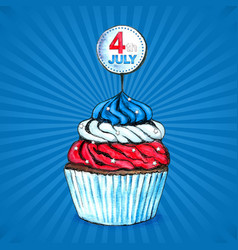 cupcakes for independence day 4 th july vector image