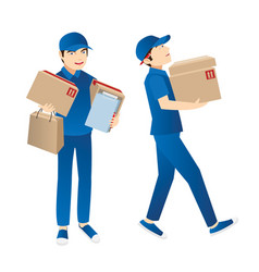 delivery guy vector image