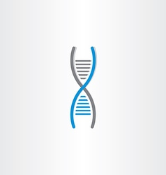 DNA symbol deoxyribonucleic acid icon vector