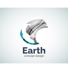 Earth logo template vector