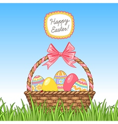 Easter grass vector