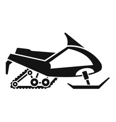 Expedition snowmobile icon simple style vector