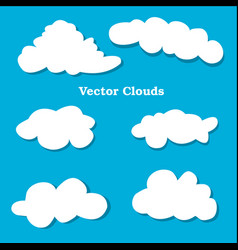 flat design clouds icons set vector image