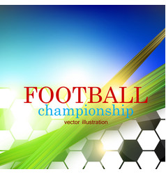 football abstract background design template vector image