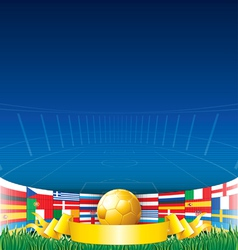 Football Euro 2012 Background vector image