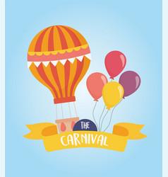 Fun fair carnival hot air balloon balloons vector