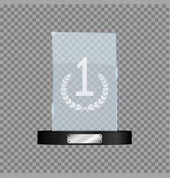 glass first place award vector image
