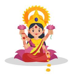 Goddess lakshmi vector