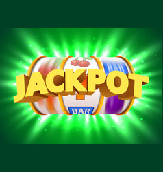 Golden slot machine wins the jackpot big win vector