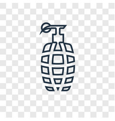 grenade concept linear icon isolated on vector image