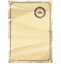 Grungy parchment vector
