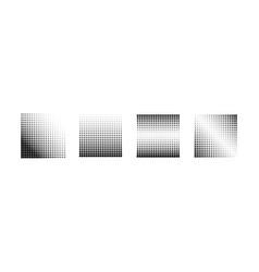 halftone effect backgrounds set of vector image