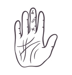 Hand sketch vector image