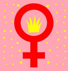 happy international women s day concept number vector image