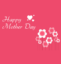 happy mother day with flower collection vector image