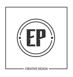 initial letter ep logo template design vector image
