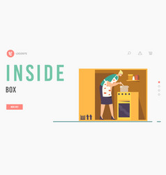 isolation or introversion landing page template vector image