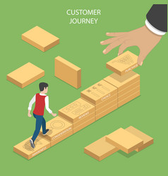 Isometric flat concept serching customer vector