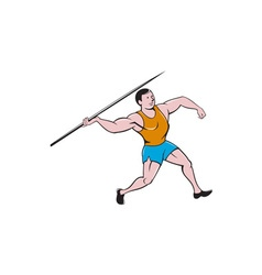 Javelin Throw Track and Field Cartoon vector image