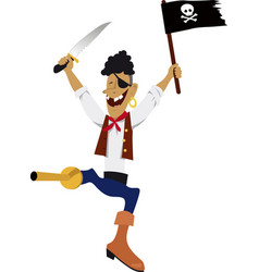 jolly pirate vector image
