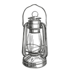 Kerosene lamp vintage decorative decoration vector