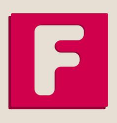 letter f sign design template element vector image vector image