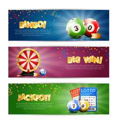 Lottery jackpot banners set vector