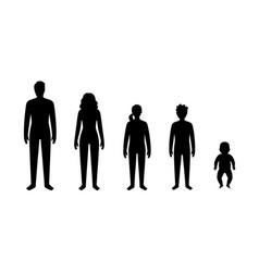 Male female silhouette vector