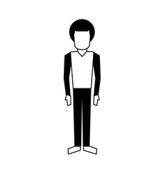 Man standing with arms to the sides avatar icon vector