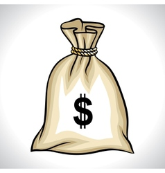 Money bag with dollar sign vector