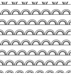monochrome abstract doodle seamless pattern vector image