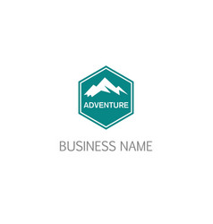 mountain emblem adventure logo vector image