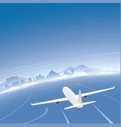 Naples skyline flight destination vector