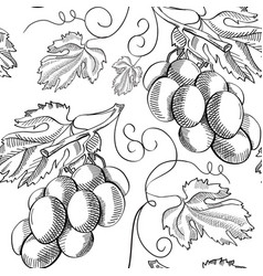 Organic fresh sketch seamless pattern vector