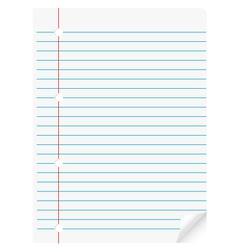 Page paper vector