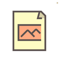 photo file document icon design 48x48 pixel vector image