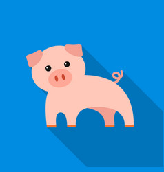 pig flat icon for web and mobile vector image