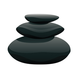 Pile of pebble vector