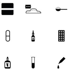 Pills icon set vector