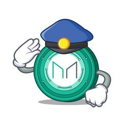Police maker coin character cartoon vector