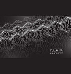 Pulsating monochrome background design vector