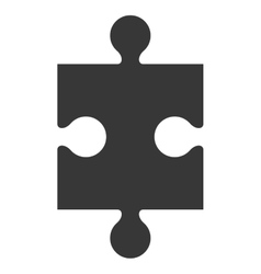 puzzle piece icon silhouette vector image