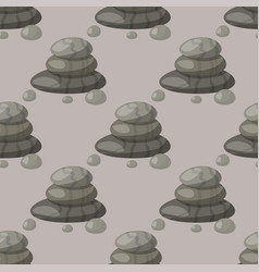 pyramid from sea pebble relax heap stones seamless vector image