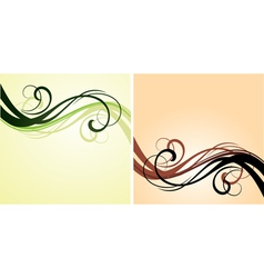 red and green flourishes vector image
